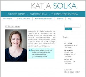 Screenshot Website Katja Solka
